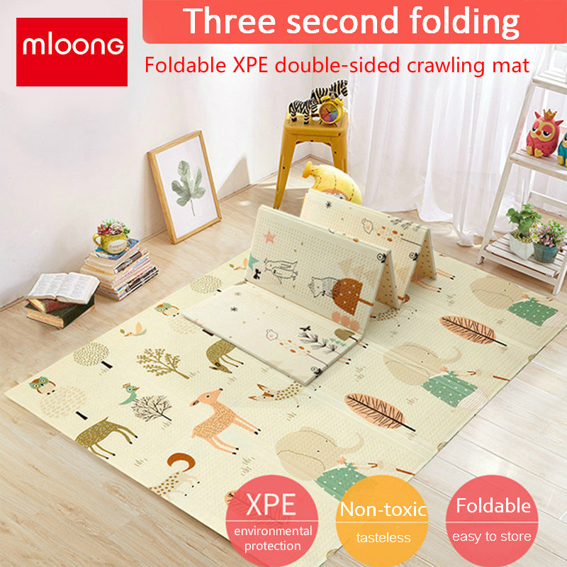 Mloong Foldable XPE Play Mat -Manor Travel-Large (Thickness 1.5cm)