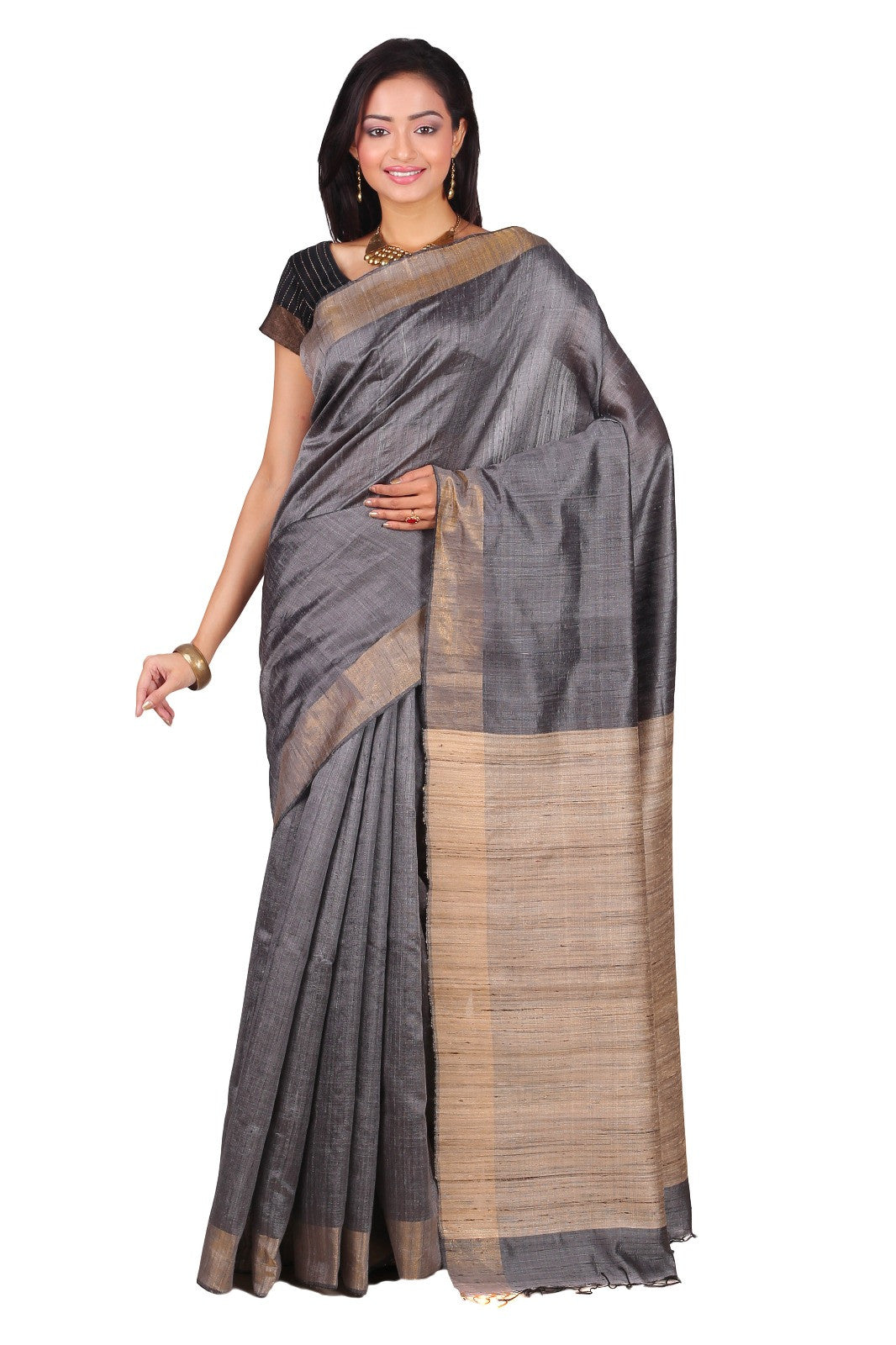 Handwoven Raw Silk Saree