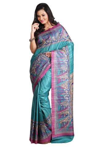 Gadd Classical Madhubani Silk Saree