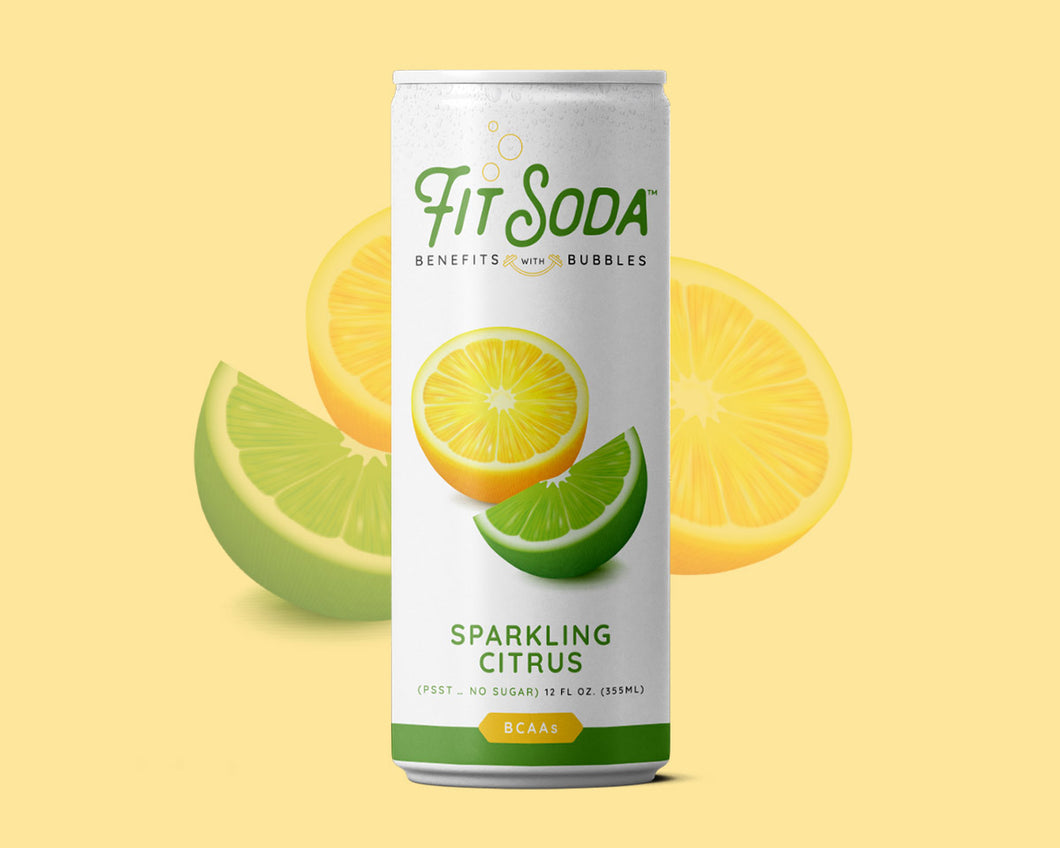 Sparkling Citrus Fit Soda  - Healthy Hydration with amazing flavor! 12 pack