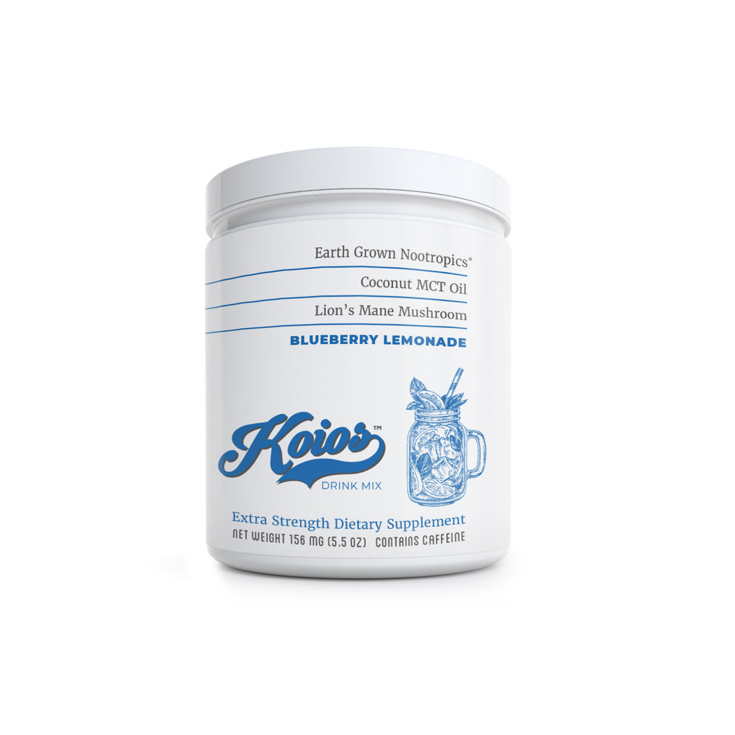 Koios Blueberry Lemonade Nootropic Drink Mix Tub – 30 Servings