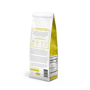Ground coffee enhanced with super shrooms - 12 oz bag.