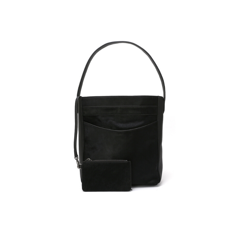 J\SABA | Pitch Black Pro Hobo with Pouch