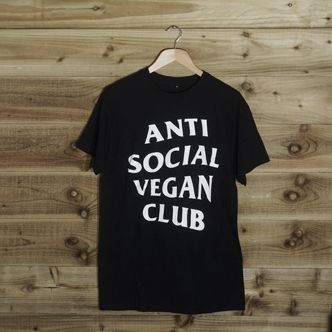 Anti Social Vegan Club T-Shirt Black - Anti Social Vegan Club