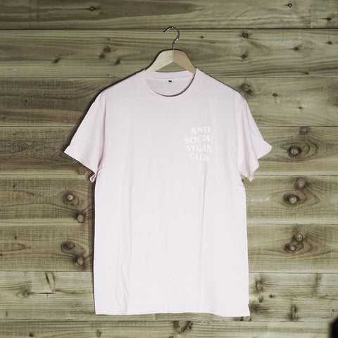 Anti Social Vegan Club Back Print T-Shirt Pink - Anti Social Vegan Club