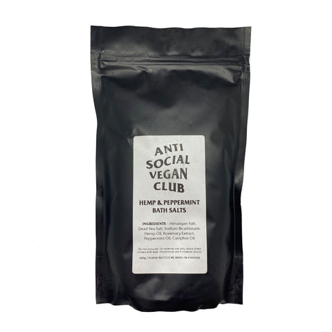 Hemp & Peppermint Bath Salts - Anti Social Vegan Club