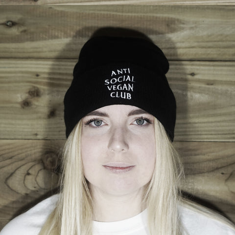 Anti Social Vegan Club Beanie - Anti Social Vegan Club