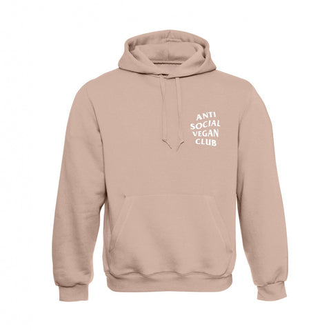Anti Social Vegan Club Logo Hoodie Pink - Anti Social Vegan Club