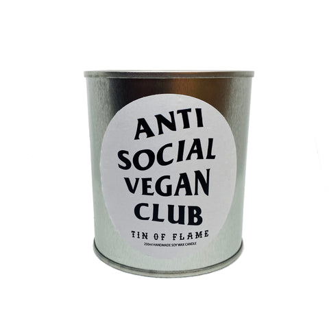 Tin Of Flame Candle - Anti Social Vegan Club