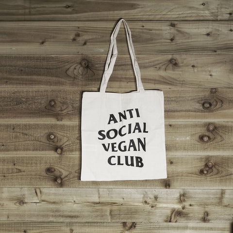 Anti Social Vegan Club Tote Bag - Anti Social Vegan Club