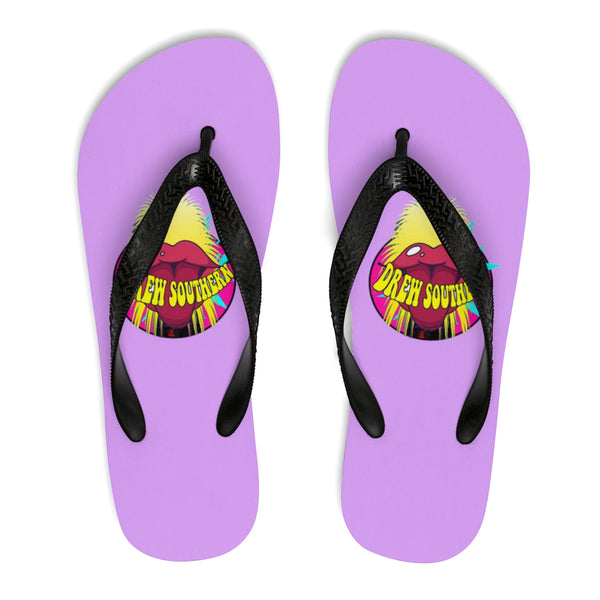 "Drew Southern ""Electric Hair Tongue"" Flip-Flops"
