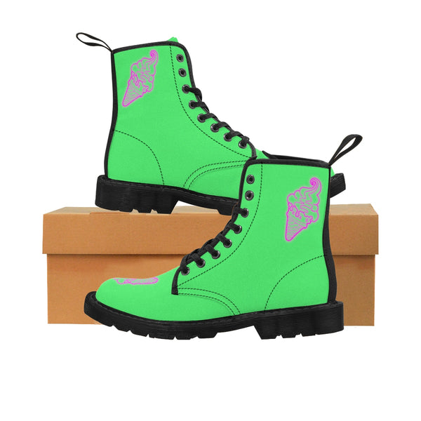 "Drew Southern ""Ice Cream"" Neon Green Martin Boots"