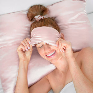 KITSCH - Pink Satin Eye Mask