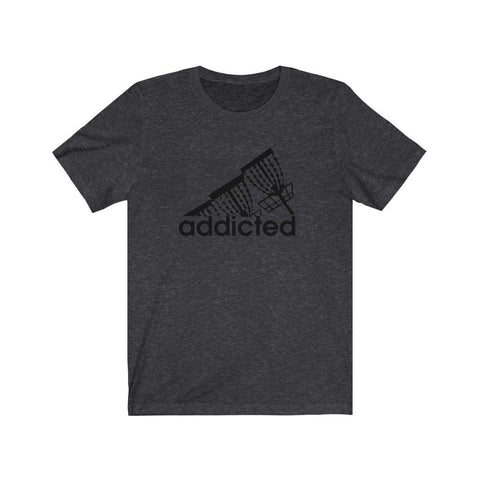 Addicted (to disc golf) Black logo- 100% cotton Unisex Jersey Short Sleeve Tee