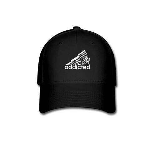 Addicted (to frisbee golf) Flexfit -Baseball Cap - black