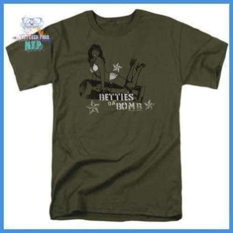 Bettie Page - Da Bomb Short Sleeve Adult