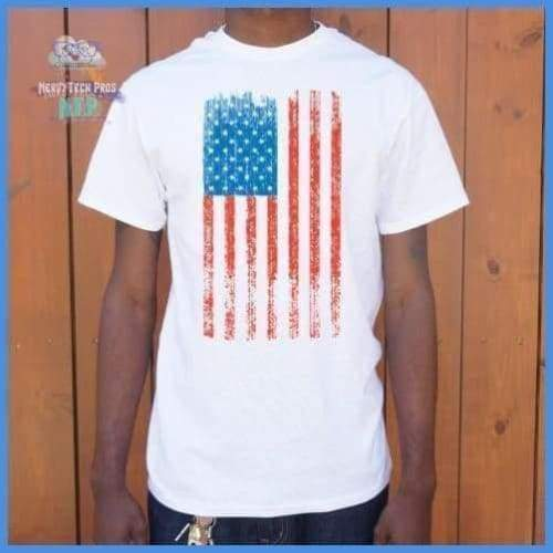 Distressed American Flag (Mens)