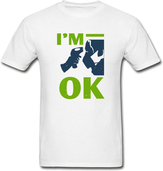 I'm Ok- Hanes Adult Tagless T-Shirt - white
