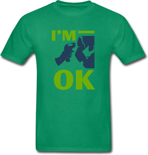 I'm Ok- Hanes Adult Tagless T-Shirt - kelly green