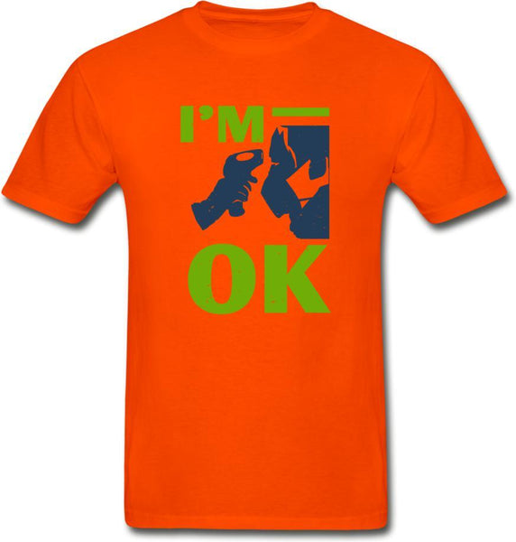 I'm Ok- Hanes Adult Tagless T-Shirt - orange