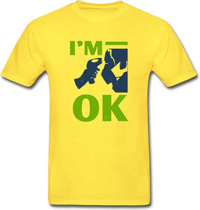 I'm Ok- Hanes Adult Tagless T-Shirt - yellow