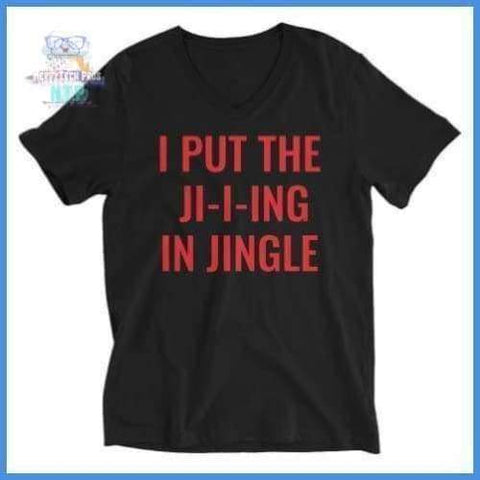 Jing in Jingle- Unisex Short Sleeve V-Neck T-Shirt