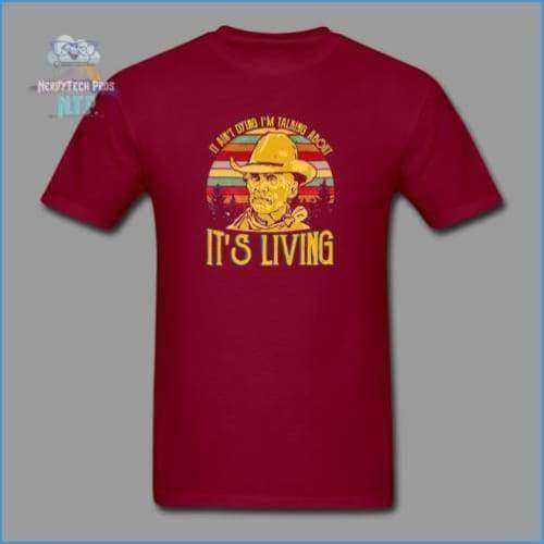 Lonesome Dove - burgundy / S - Mens T-Shirt