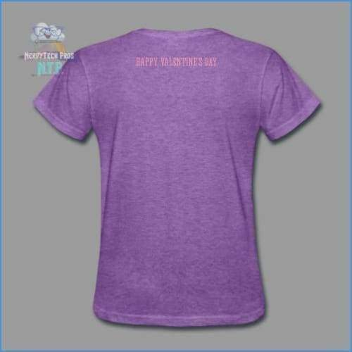 Love you to the Moon and Back - Valentines Premium Ladies Tee - purple heather / S - Womens T-Shirt