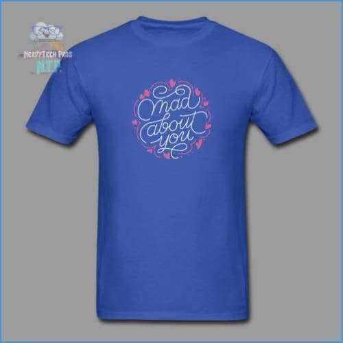Mad about you-Mens Valentines Tee - royal blue / S - Mens T-Shirt