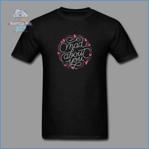 Mad about you-Mens Valentines Tee - black / S - Mens T-Shirt