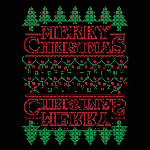 Strange Merry Christmas Men's Tri-Blend T-Shirt