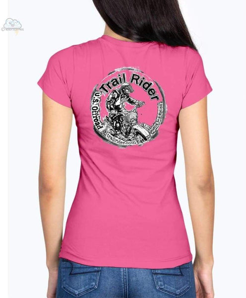 Trail Rider-Fruit of the Loom Ladies - V Neck Tee - Shirts