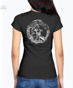 Trail Rider-Fruit of the Loom Ladies - V Neck Tee - Black / S - Shirts