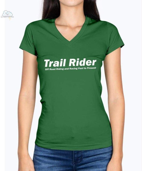 Trail Rider-Fruit of the Loom Ladies - V Neck Tee - Kelly / S - Shirts