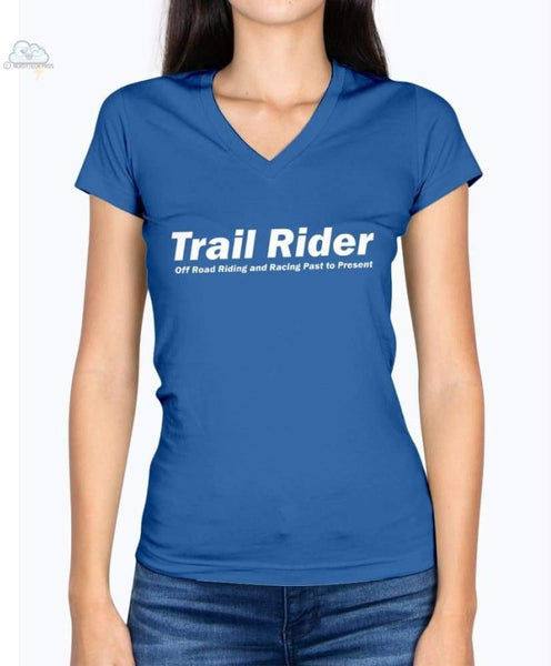 Trail Rider-Fruit of the Loom Ladies - V Neck Tee - Royal / S - Shirts