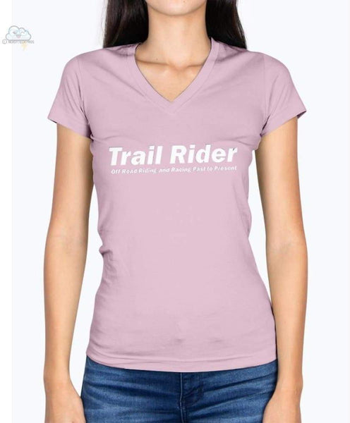 Trail Rider-Fruit of the Loom Ladies - V Neck Tee - Classic Pink / S - Shirts