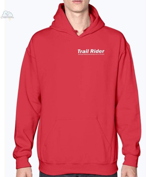 Trail Rider- Gildan- Hoodie - Cherry Red / S - Sweatshirts