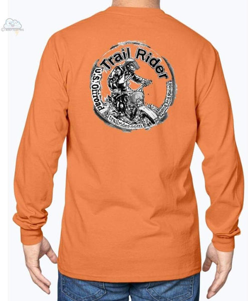 Trail Rider -Gildan Long Sleeve T-Shirt - Orange / S - Shirts