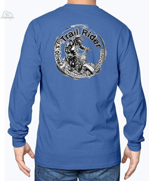 Trail Rider -Gildan Long Sleeve T-Shirt - Royal Blue / S - Shirts