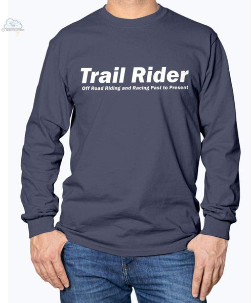 Trail Rider -Gildan Long Sleeve T-Shirt - Navy / S - Shirts