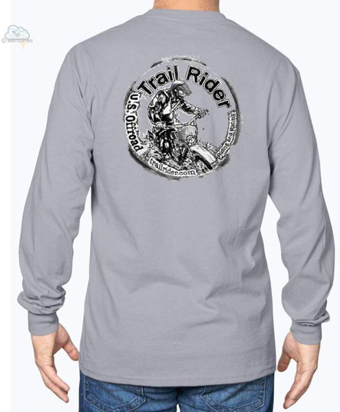 Trail Rider -Gildan Long Sleeve T-Shirt - Sports Grey / S - Shirts