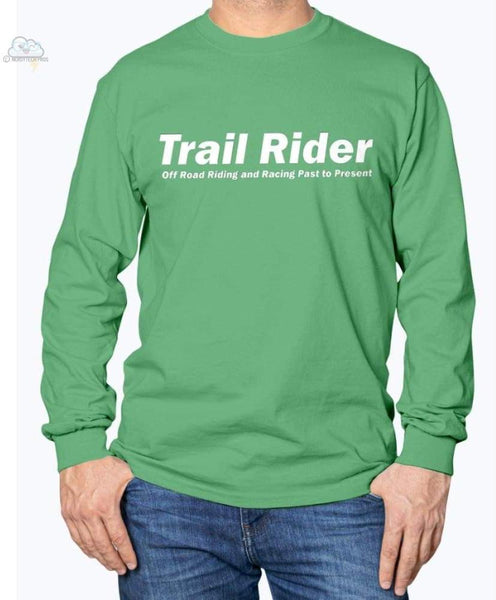 Trail Rider -Gildan Long Sleeve T-Shirt - Irish Green / S - Shirts