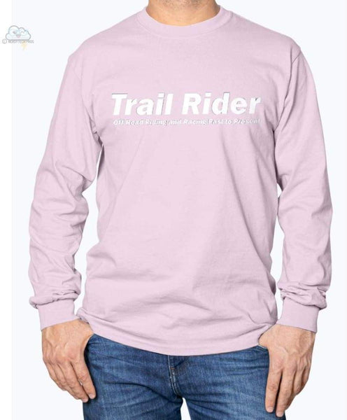 Trail Rider -Gildan Long Sleeve T-Shirt - Light Pink / S - Shirts