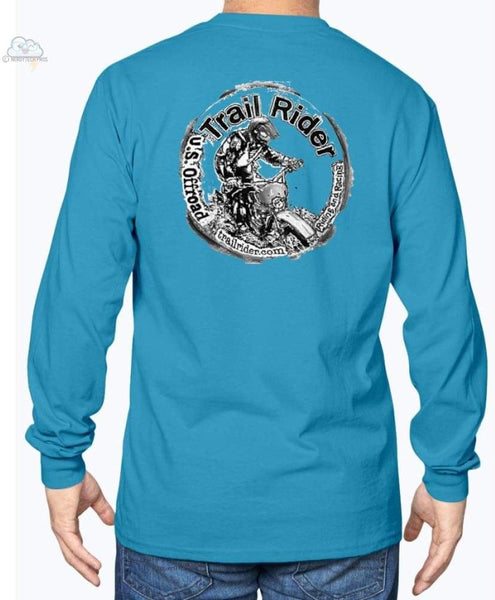 Trail Rider -Gildan Long Sleeve T-Shirt - Sapphire / S - Shirts