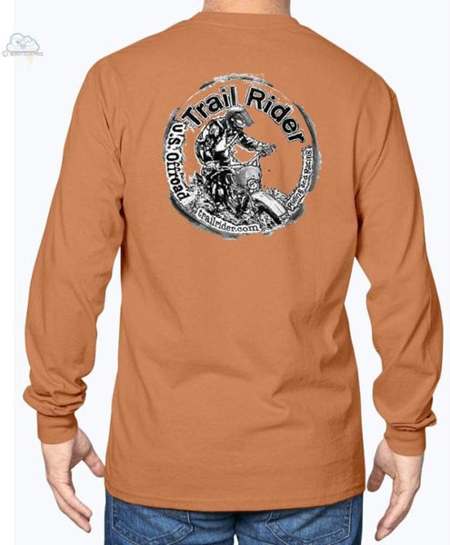 Trail Rider -Gildan Long Sleeve T-Shirt - Texas Orange / S - Shirts