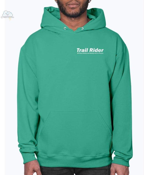 Trail Rider- Jerzees - Unisex Hoodie - Kelly Green / S - Sweatshirts