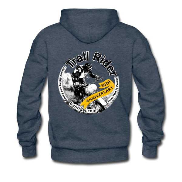 TrailRider 50th Anniversary - Men's Premium Hoodie - heather denim