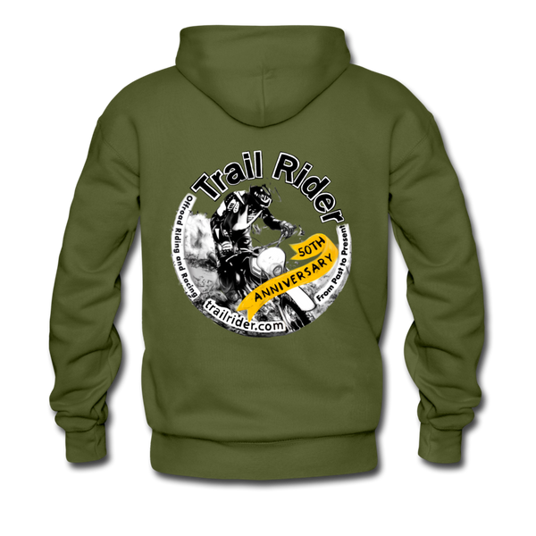 TrailRider 50th Anniversary - Men's Premium Hoodie - olive green