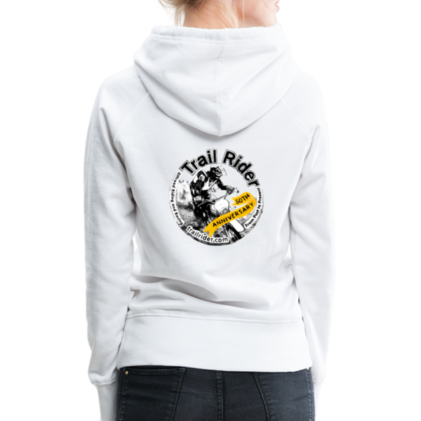 TrailRider 50th Anniversary- Women's Premium Hoodie - white