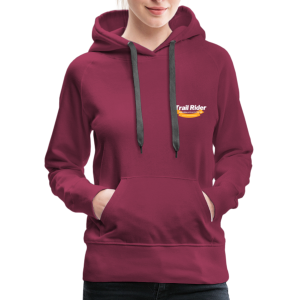 TrailRider 50th Anniversary- Women's Premium Hoodie - burgundy